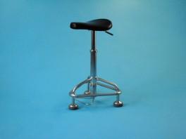 Sedadlo pro lékaře výškově stavitelné, konstrukce nerezová