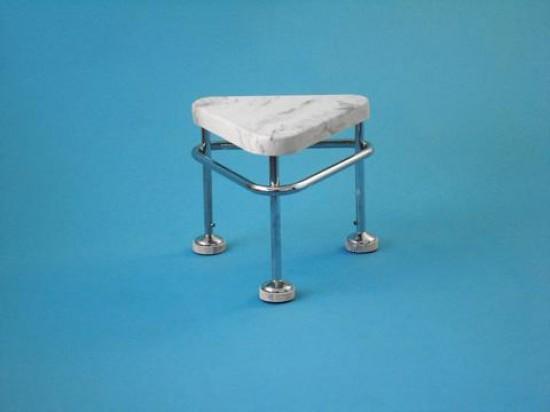 Pojízdná stolička, výška 400 mm, kostra nerezová antistatická