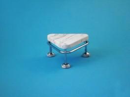 Pojízdná stolička, výška 250 mm, kostra nerezová antistatická