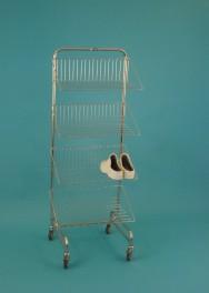 Rám modulový pojízdný jednostranný se 4 policemi na obuv