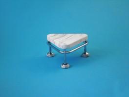 Pojízdná stolička, výška 250 mm, kostra chromovaná neantistatická